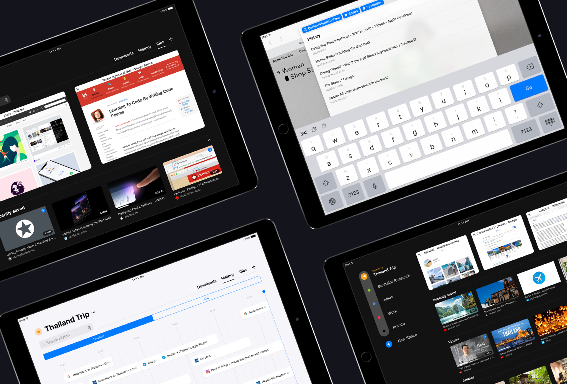 Refresh Browser features on iPad