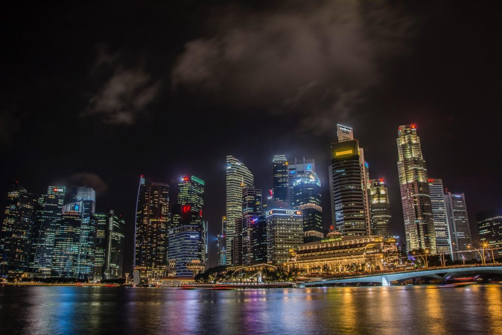 Singapore's panorama during night