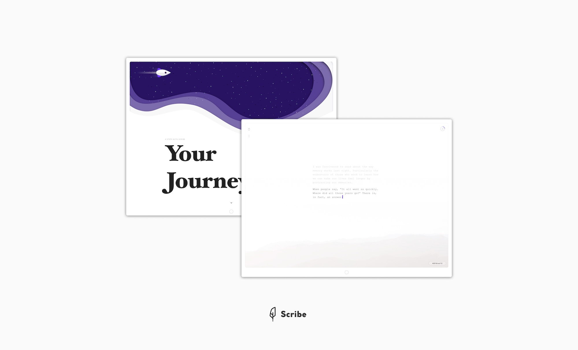 Scribe, journal app for helping people